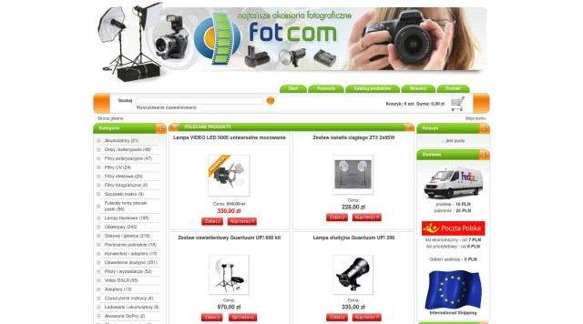 Photo and lighting online store from Poland
