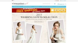 International wedding online apparel store