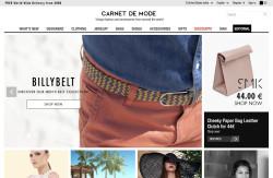 Zagraniczny francuski odzieżowy sklep internetowy Carnet de Mode