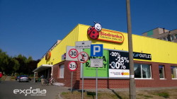 Biedronka grocery store in Poland