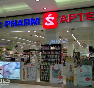 The Super-Pharm drug stores are a combination of pharmacy and cosmetic store