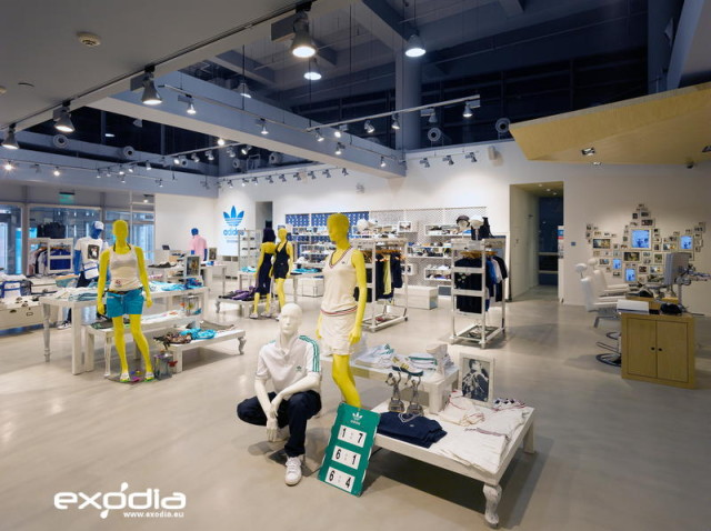Adidas has many fashion stores in Europe and a headquarter in Germany