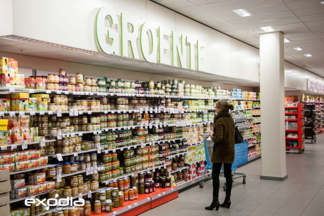 The grocery stores Albert Heijn are present in all Dutch cities.