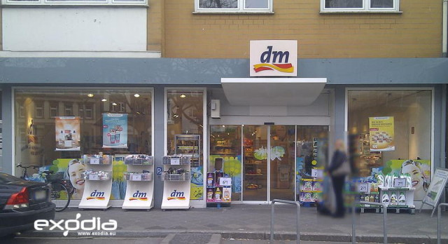 German dm-drogerie markt drugstore