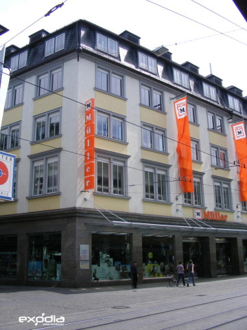 Drogerie Müller is a well-known drugstore in Germany.