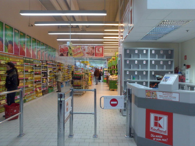 German Kaufland supermarket in Poland
