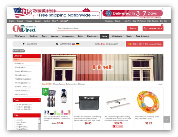 Online Mall from China with electronics and gadgets