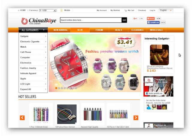 Chinabuye to internetowy sklep z Chin oferujący zabawki, odzież, biżuterię, elektronikę i inne rzeczy wyprodukowane w Chinach.