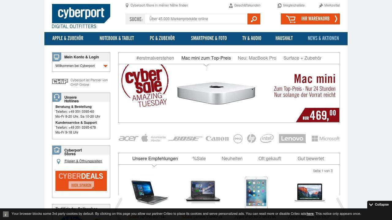 Cyberport niemiecki sklep internetowy z elektroniką