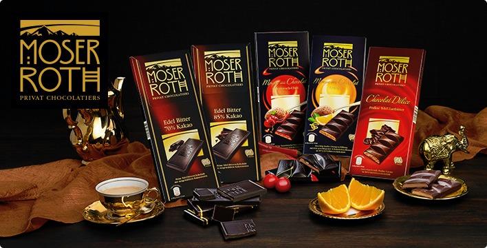Niemieckie czekolady Moser Roth