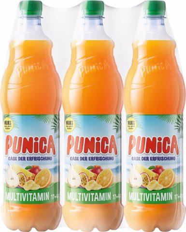 Niemieckie napoje Punica z dodatkiem witamin i soku owocowego
