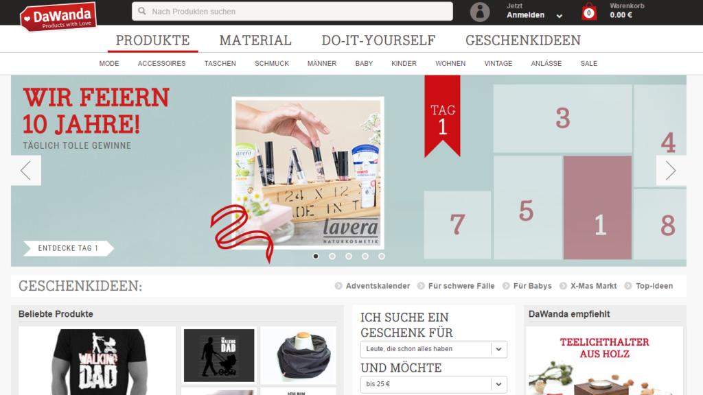 Dawanda niemiecki sklep online z rękodziełem i odzieżą
