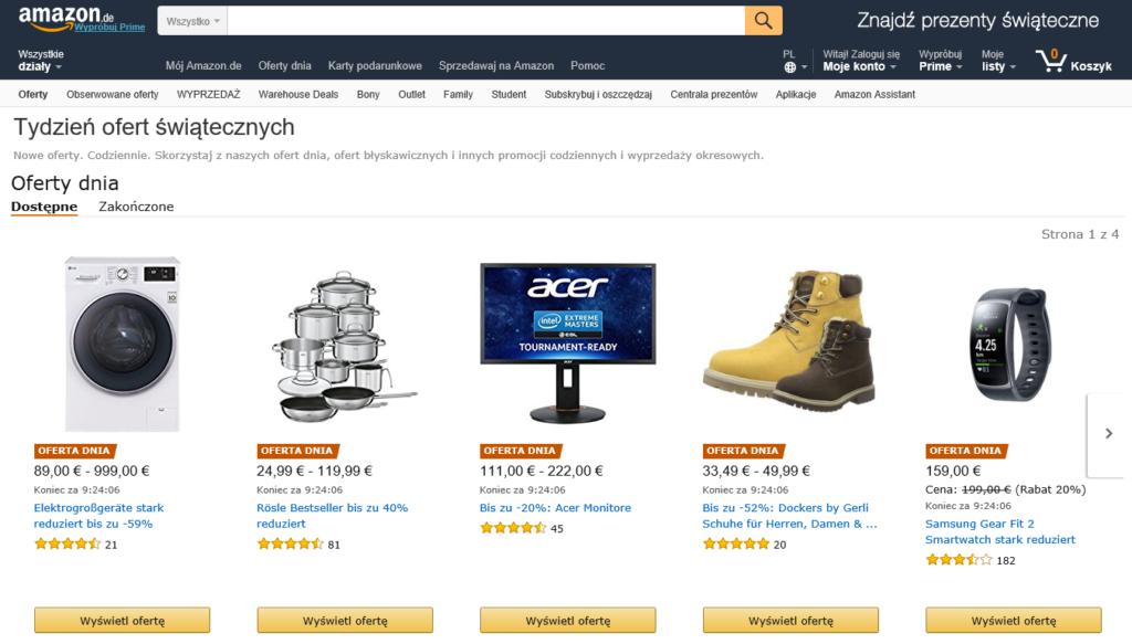 Niemiecki sklep internetowy Amazon