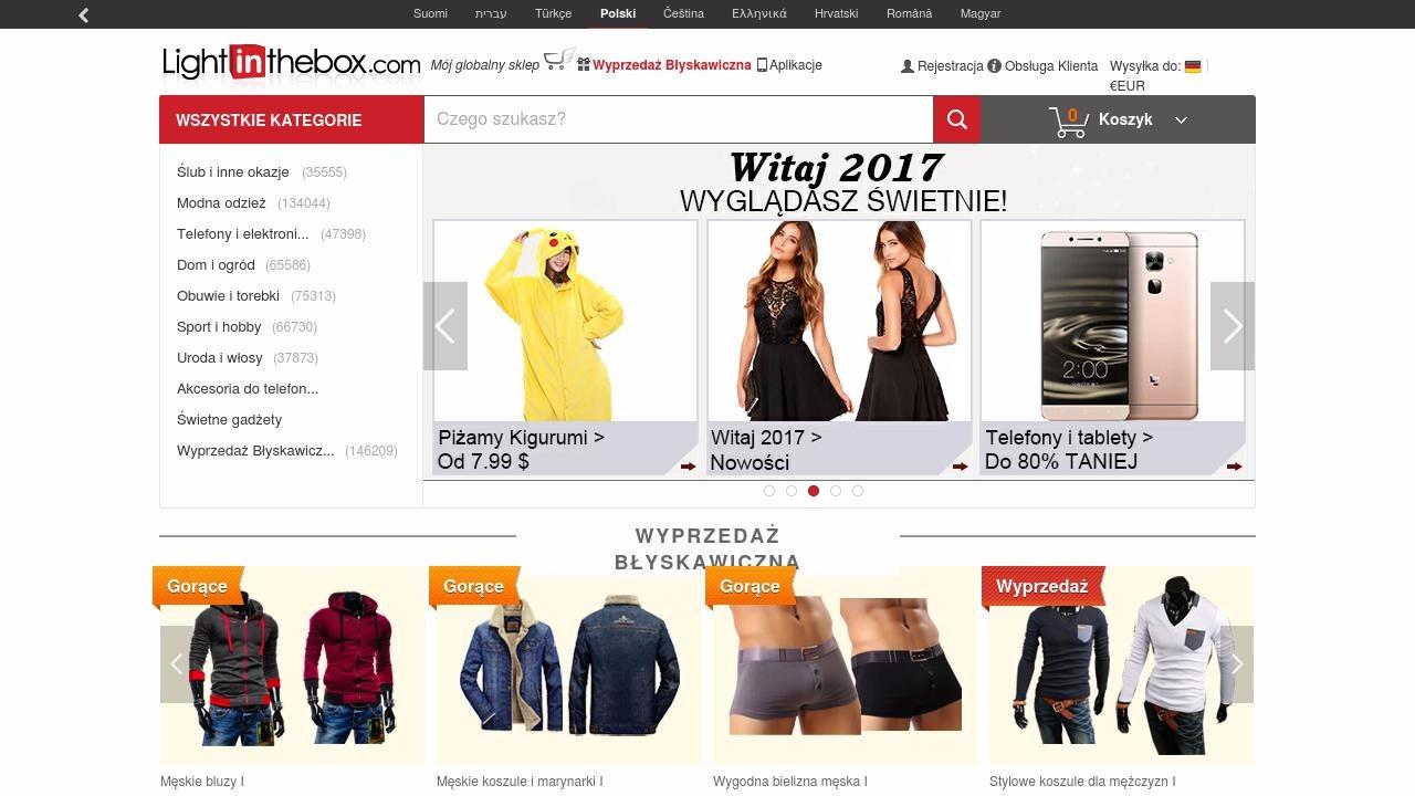 Promocje w chińskim sklepie internetowym LightInTheBox