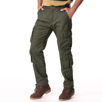 Mens Winter Polar Fleece Lined Cargo Pants Multi Pocket Loose Thick Warm Trousers