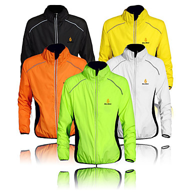 WOLFBIKE Men's Cycling Jacket Bike Windbreaker / Top Windproof, Quick Dry, Ultraviolet Resistant Classic Polyester Orange / Yellow / Green Advanced Mountain Cycling Relaxed Fit Bike Wear