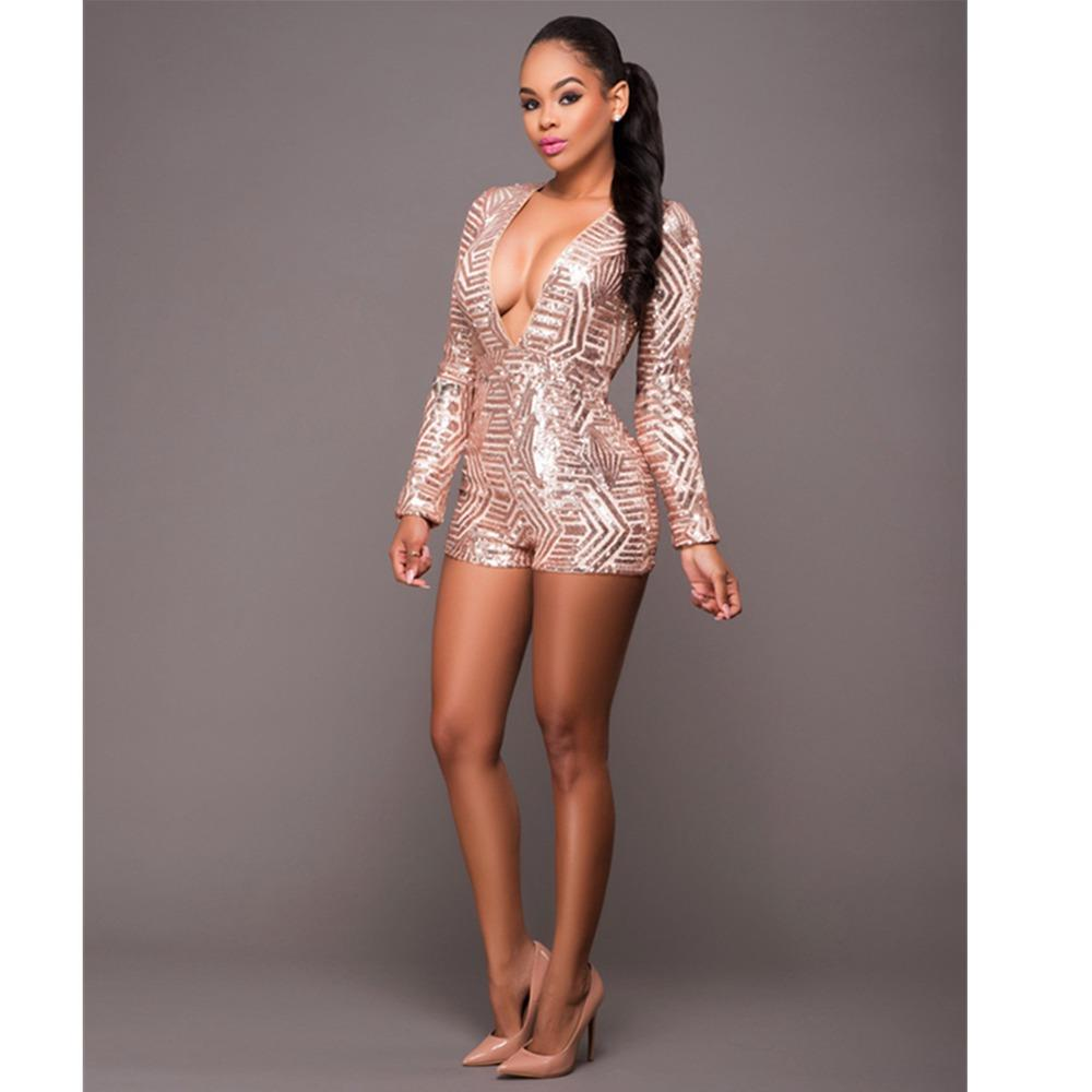 Women Sequins Splicing Backless Party Club Mini Dress Champagne