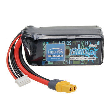Helios 14.8V 1300mAh 4S 75C Lipo Battery AIRSOFT Pack XT60 Plug For Eachine Wizard X220