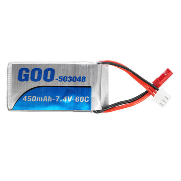 US$8.39 35% GOO 7.4V 450mah 2S 60C JST Plug Lipo Battery for FPV Racing RC Parts from Toys Hobbies and Robot on banggood.com