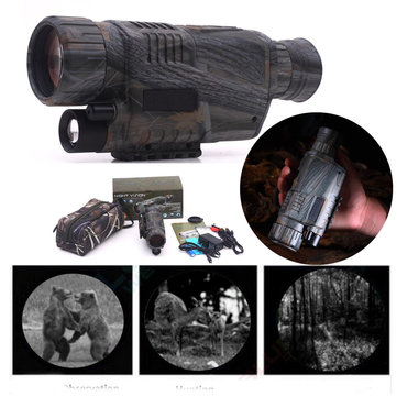 US$99.99 41% 5X40 Infrared Dark Night Vision Monocular Camping Hiking Spotting Telescope Camping from Sports & Outdoor on banggood.com