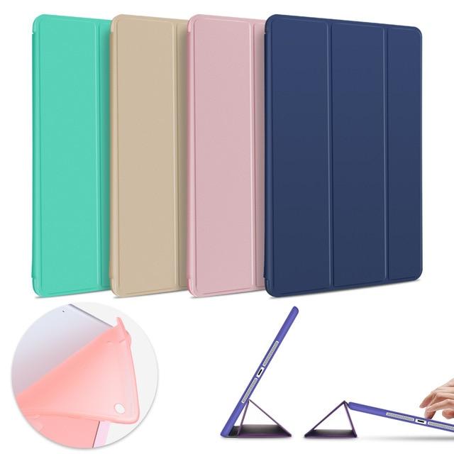 Etui do iPada Air 2 Air 1, miękka TPU powrót smart cover etui z klapką stań Case PU skórzane etui do iPada powietrza odporny na wstrząsy i pyłoszczelna