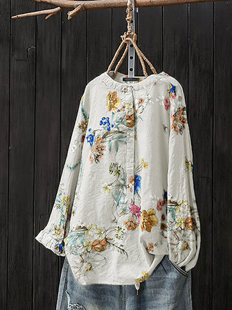 US$17.9963%Women Retro Button Stand Collar Floral Print BlouseWomen's ClothingfromClothing and Apparelon banggood.com