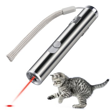 Loskii PT-31 USB Rechargeable Pet Toys Cat Training Toy Laser Pointer With LED FlashlightPet SuppliesfromHome and Gardenon banggood.com