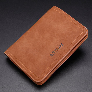 Men Short Soft Durable Retro Fashion Zipper Pocket Coin Bag WalletMen's BagsfromBags & Shoeson banggood.com