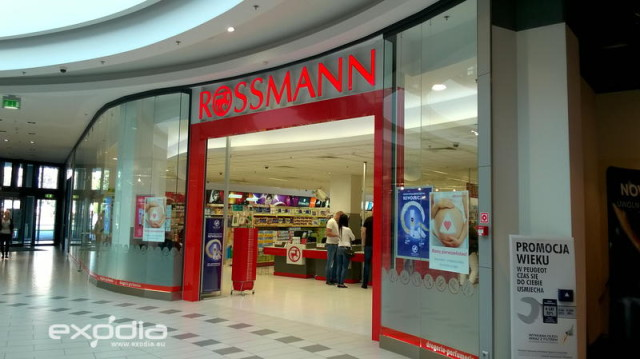 Rossmann is a well-known German cosmetic store chain