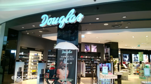 In Poland you will find many Douglas perfumeries and cosmetic stores