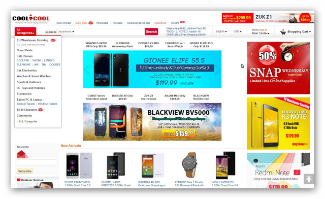 CooliCool is a famous online electronics store in China.