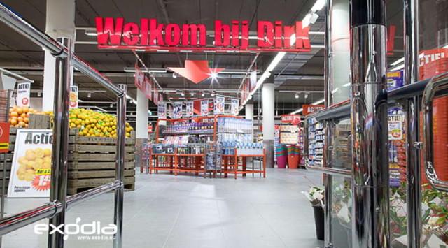 Hipermarkety Dirk van den Broen to holenderskie sklepy samoobsługowe.