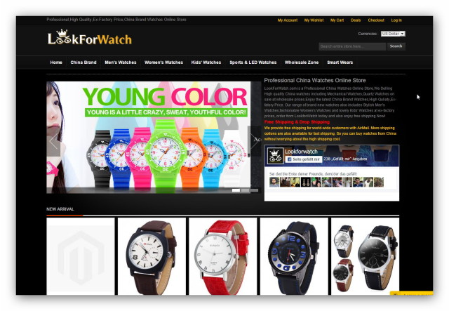 LookForWatch is one of China's greatest online watch stores.