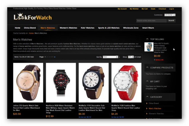 LookForWatch is a Chinese online watch store.
