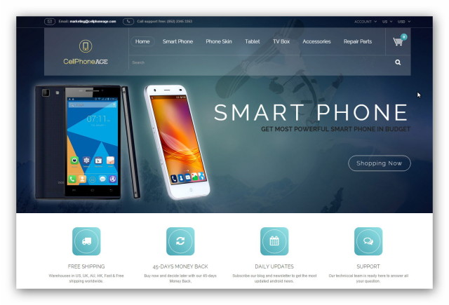 Cellphoneage jest e-sklepem z Chin oferującym smartfony, tablety i komputery.