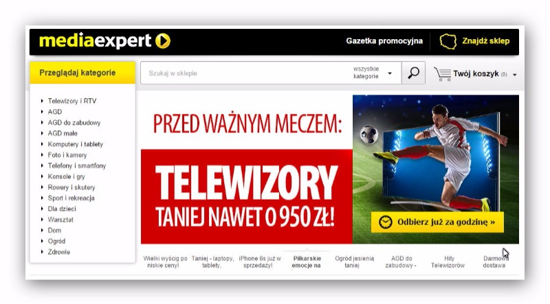 Media Expert electronics store in Poland
