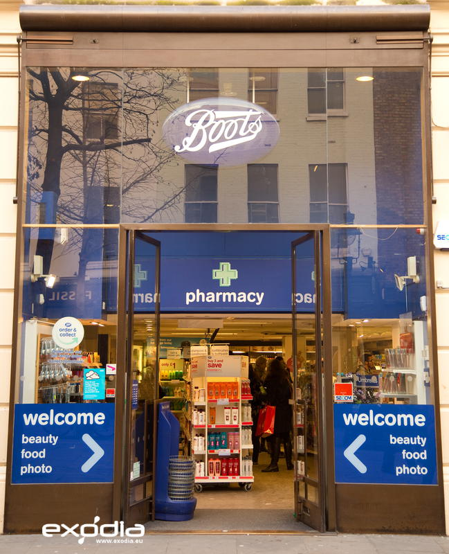 Boots drug store in UK and the Netherlands.