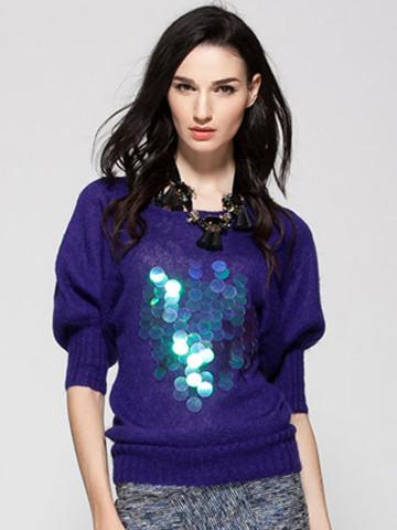 Ein schöner Sweater mit reflektierendem Muster.