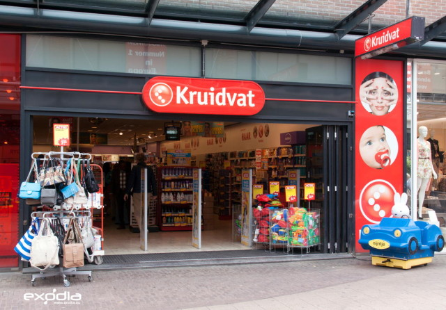 Kruidvat drug store in the Netherlands.