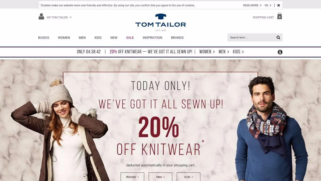 Tom Tailor niemiecki sklep odzieżowy online