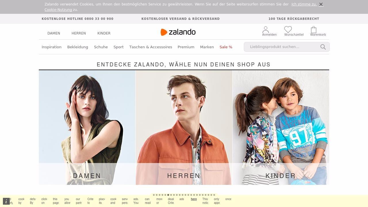 Zalando niemiecki sklep internetowy