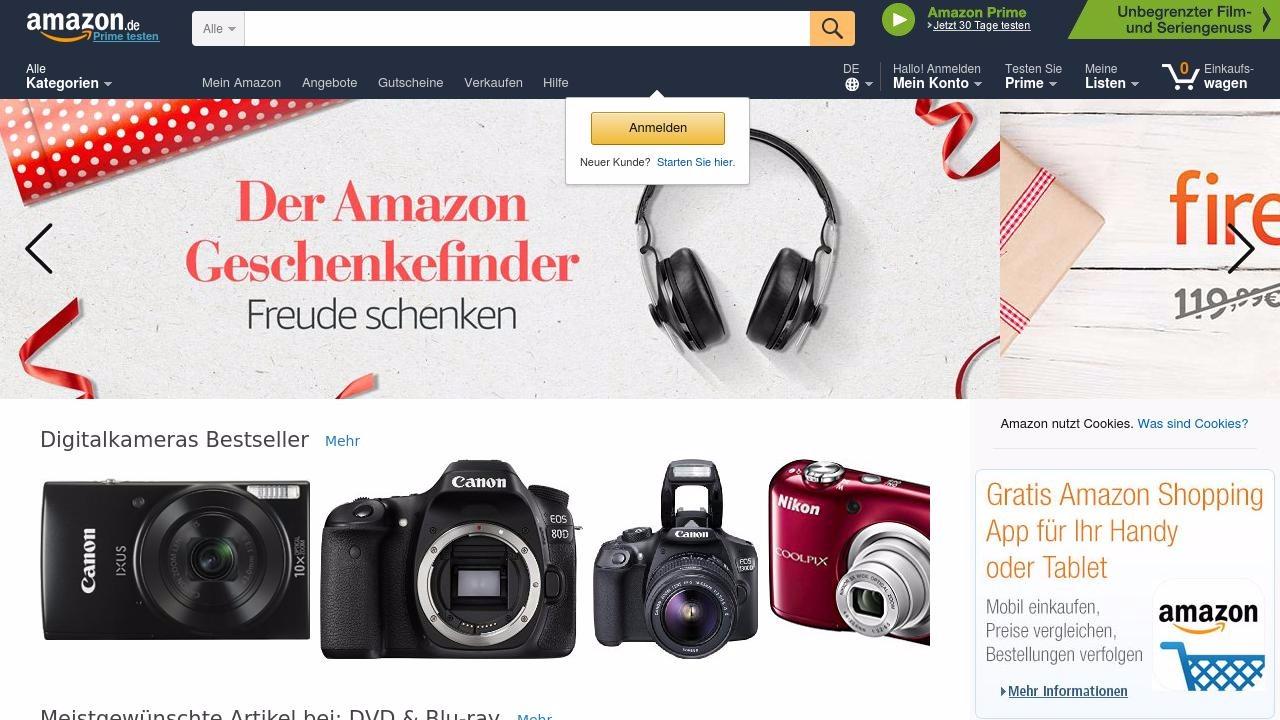 Niemiecki sklep internetowy Amazon.de