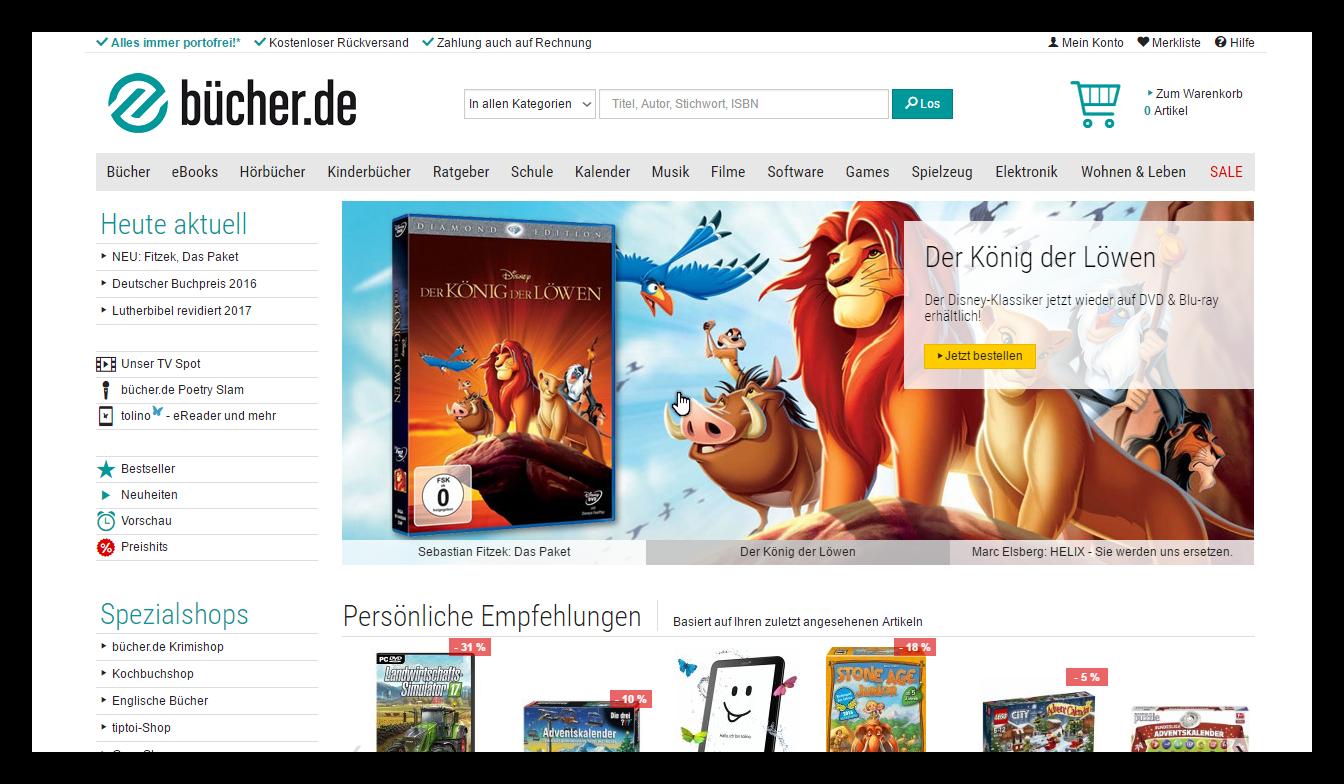 Buecher niemiecki sklep online