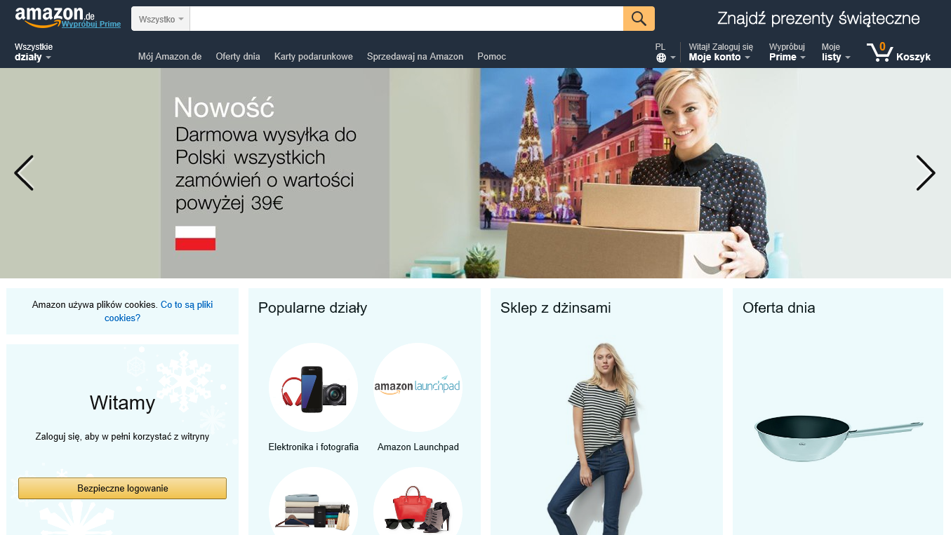 Jak kupować na Amazon.de, największym niemieckim sklepie internetowym