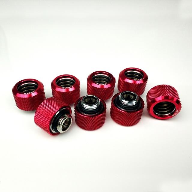 8 sztuk/partia rurki twardej OD12mm/OD14mm/OD16mm do zaciskania ręcznego montażu G1/4 '4 warstwy pierścień uszczelniający skorzystaj z do PMMA/PETG sztywność rury
