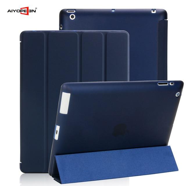 Case dla Apple iPad 2/3/4 aiyopeen Ultra Slim PU skórzana klapka miękka TPU powrót Magentic Smart etui do iPada 2 3 4 A1430 A1460