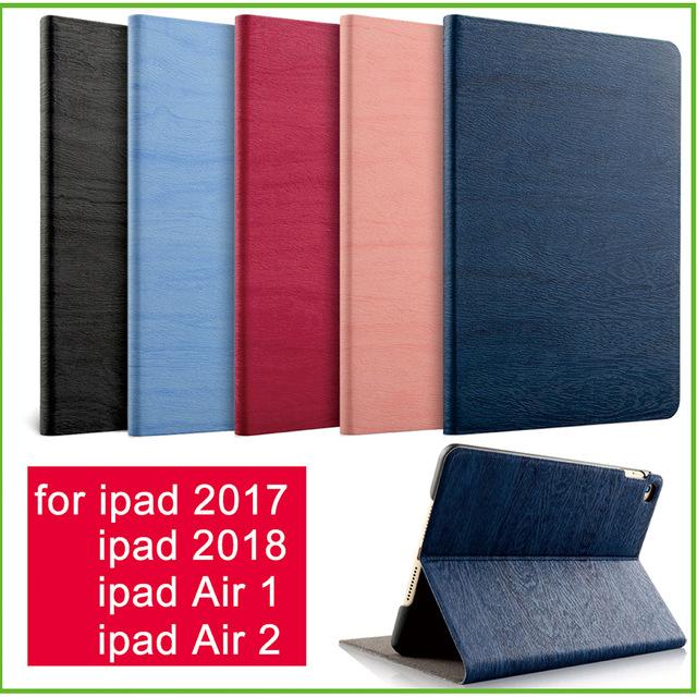 Dla iPad powietrza 2 powietrza 1 przypadku nowy iPad 2017 2018 9.7 cal prostota PU inteligentne etui ze skóry etui na Folio Auto Wake pokrywy skrzynka