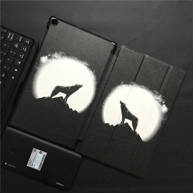 T510 T515 magnetyczny futerał, dla Samsung SM-T510 SM-T515 Tri składane pokrywy, dla Samsung Galaxy Tab 10.1 2019 Slim Funda Capa