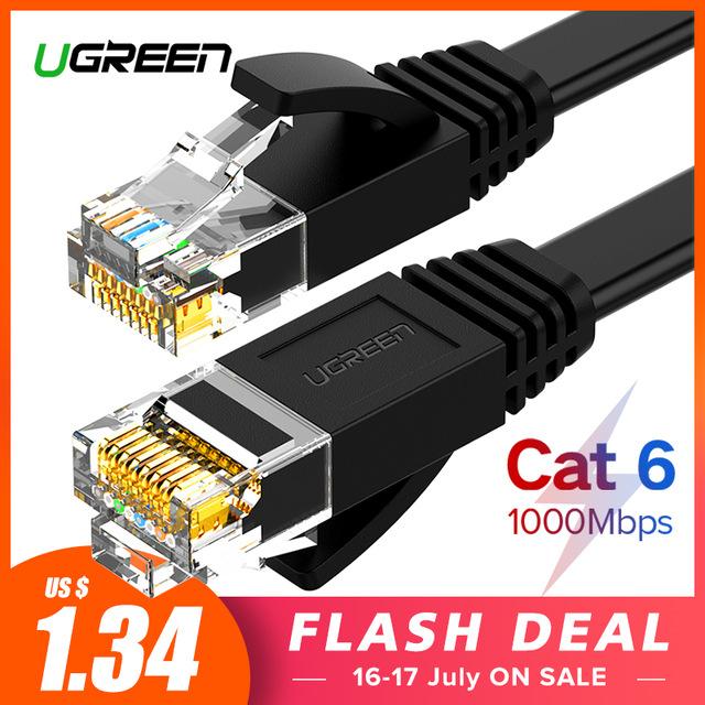 Ugreen kabel Ethernet Cat6 przewód LAN UTP CAT 6 RJ 45 kabel sieciowy 10 m/50 m/100 m patch Cord do laptopa RJ45 kabel sieciowy