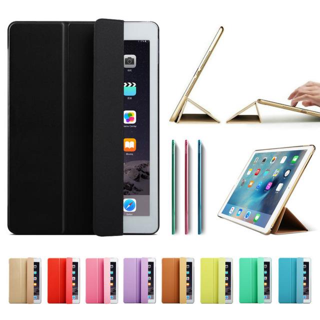 """Ultra Slim inteligentne skrzynki pokrywa dla Apple iPad Pro 12.9 2015 2016 12.9 """"2017 tablet ze skóry PU składany Folio przypadkach Auto budzenie/uśpienia"""